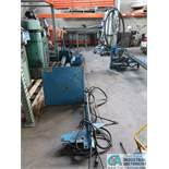 12' MILLER WELDING BOOM WITH 60 SERIES WIRE FEEDER AND PEDESTAL