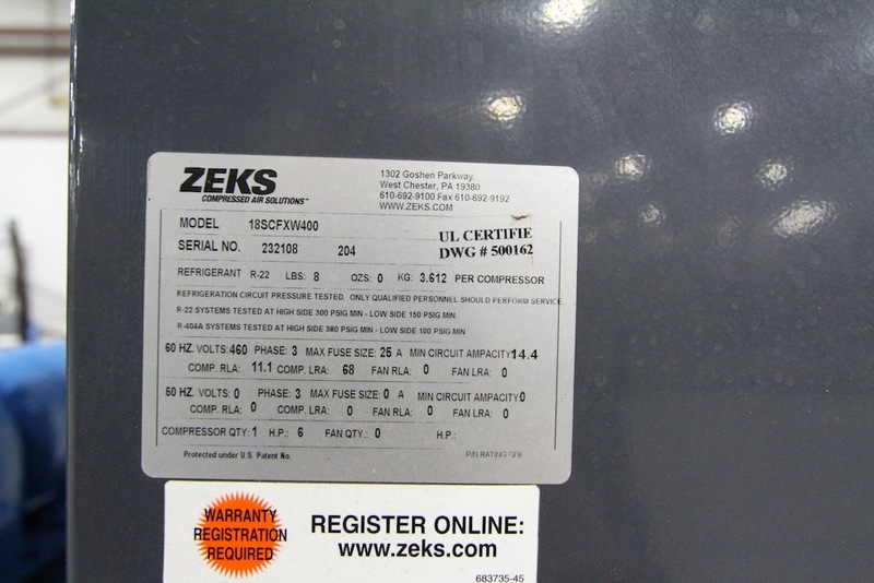 Zeks Air Dryer, Year 2004 - Image 4 of 4