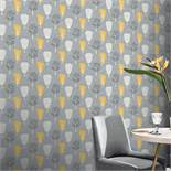1 LOT TO CONTAIN 8 AS NEW ROLLS OF ARTHOUSE RETRO TREE ORCHE/GREY WALLPAPER - 902309 / RRP £71.92