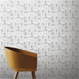 1 LOT TO CONTAIN 12 AS NEW ROLLS OF ARTHOUSE RETRO CIRCLE GREY WALLPAPER - 902402 / RRP £107.88
