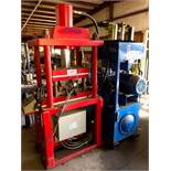 """Specially Manufactured Model PJP-2B 4-Post Hydraulic Press; 18"""" x 25"""" Between Post, 16"""" x 23"""" Heated"""