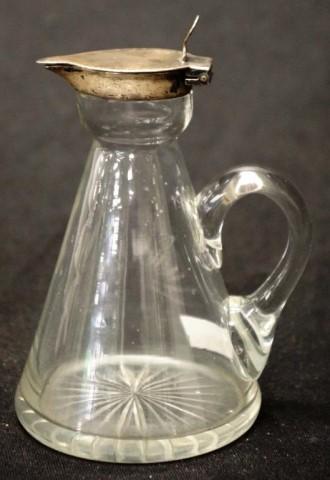 George V Sterling silver topped whisky noggin