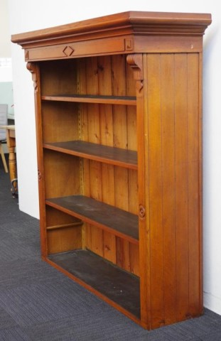 Lot 1785 - Antique open bookcase