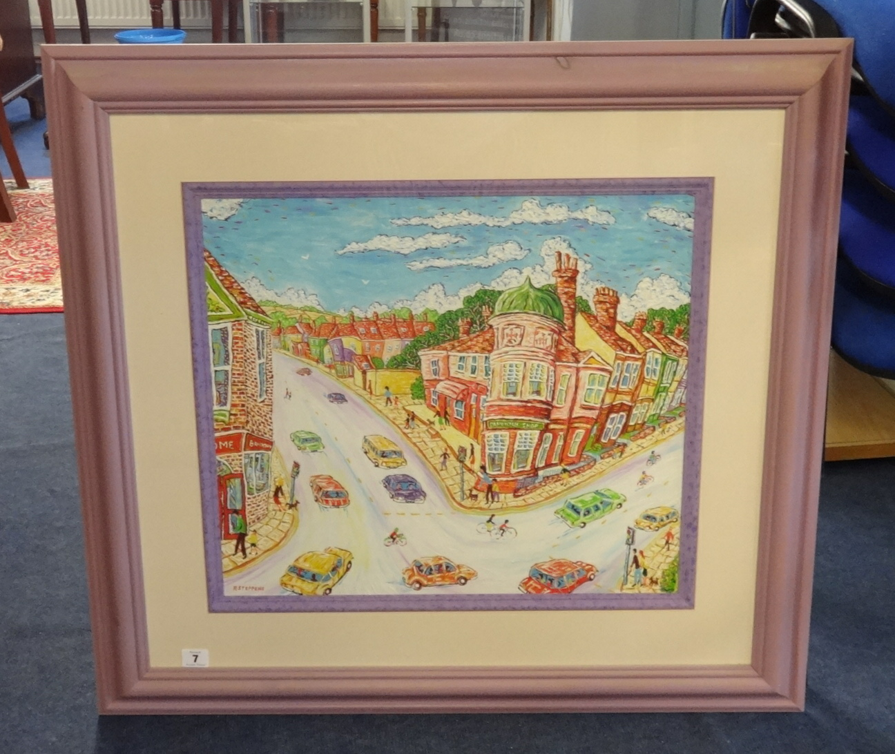Lot 007 - Roger Steppens, oil on board 'The Old Post Office, Plymouth', signed 46cm x 52cm, Provenance;
