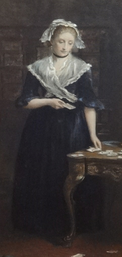 Lot 002 - After Sir J. A. Millais, a pair of antique prints, 'The Widow's Mite' and 'The Gambler's Wife'