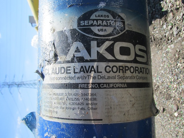 Lot 13 - LAKOS SEPARATOR, MODEL AX-0409-B
