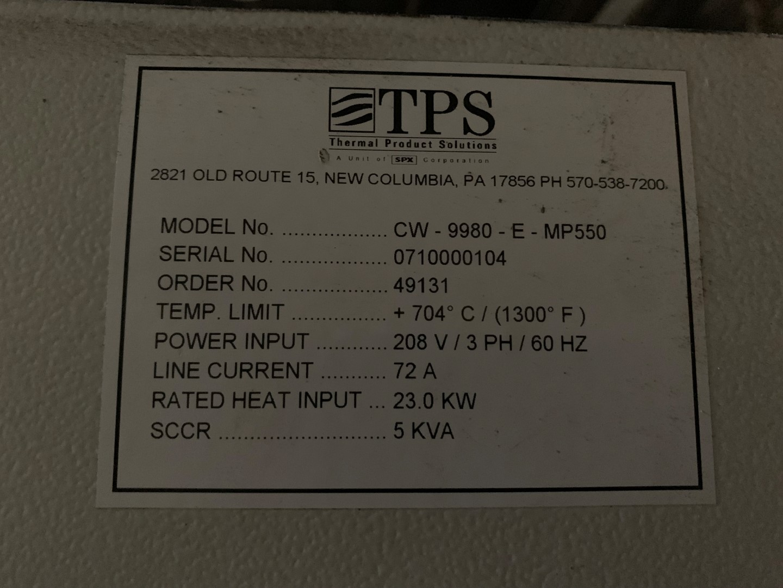 Lot 71 - TPS Oven, Model CW 9980-E-MP550, 1300 F