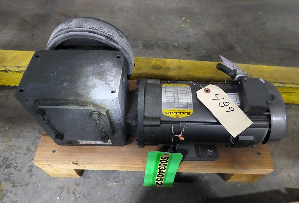 0.75 HP Baldor DC Gearmotor