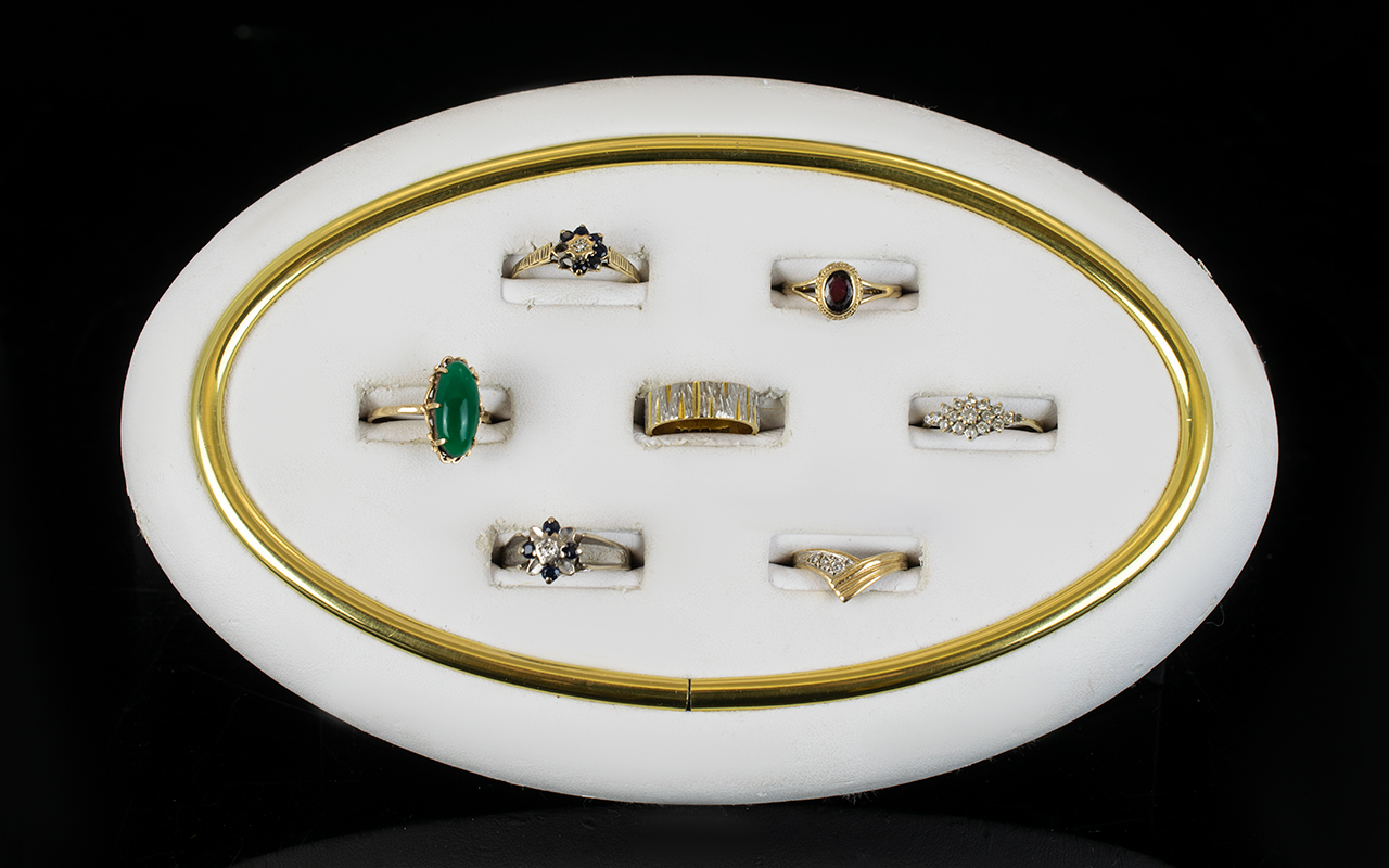Lot 159 - A Mixed Collection Of 9ct Gold And Stone