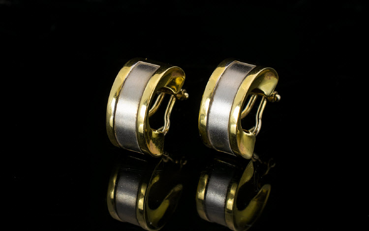 Lot 146 - Australian Fine Pair of 17ct Two Tone Go