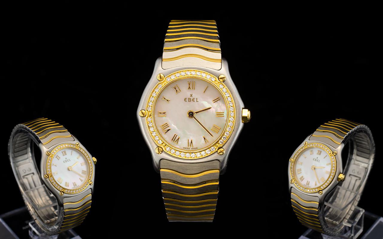 Lot 99 - Ebel Ladies Bimetal Wristwatch In 18ct G