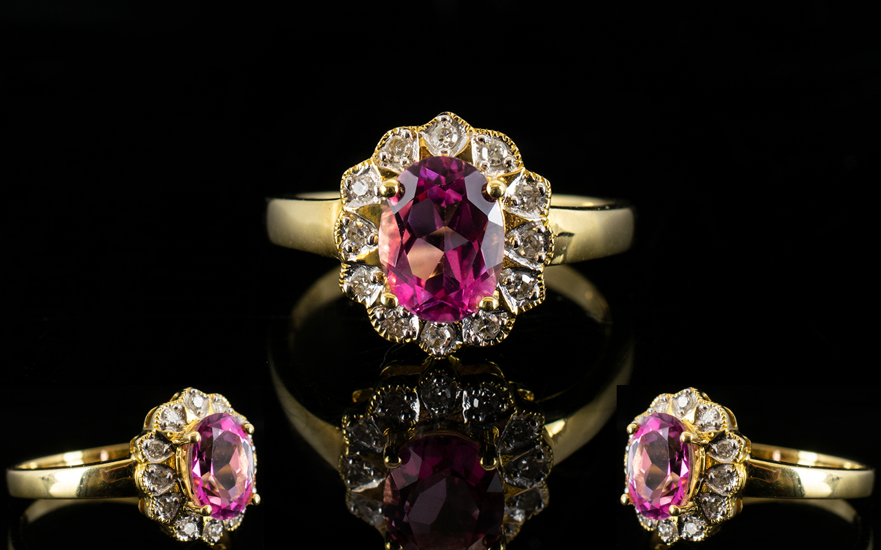 Lot 60A - 18ct Gold Diamond Dress Ring Set with ce