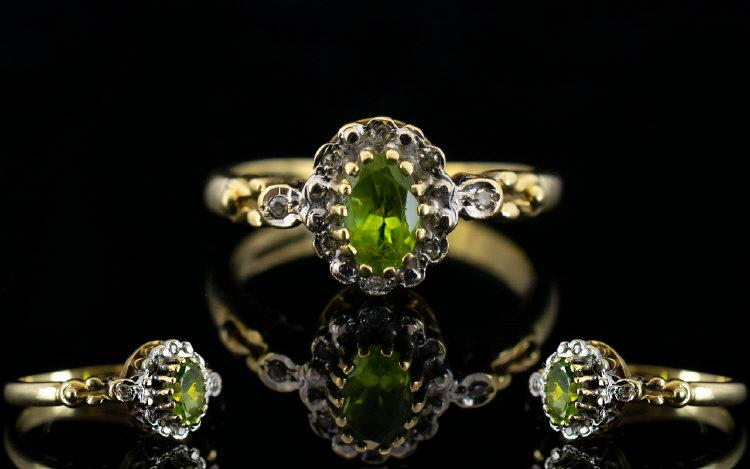 Lot 181 - Ladies - Fancy Shank 9ct Gold Peridot an