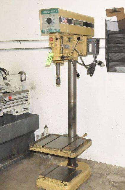 """powermatic model 1200hd; 20"""" variable speed floor standing drill"""
