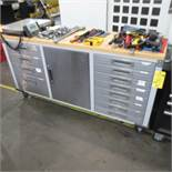 "72"" X 20"" Roll Around Work Bench Tool Cabinet"