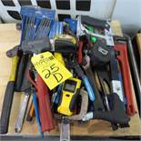 Assorted Cutters, Hammers, Pipe Wrench, Files and Tools