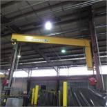 Contrx 2 Ton Wall Mounted Jib Est. 22' Long With Yale 2 Ton Electric Hoist