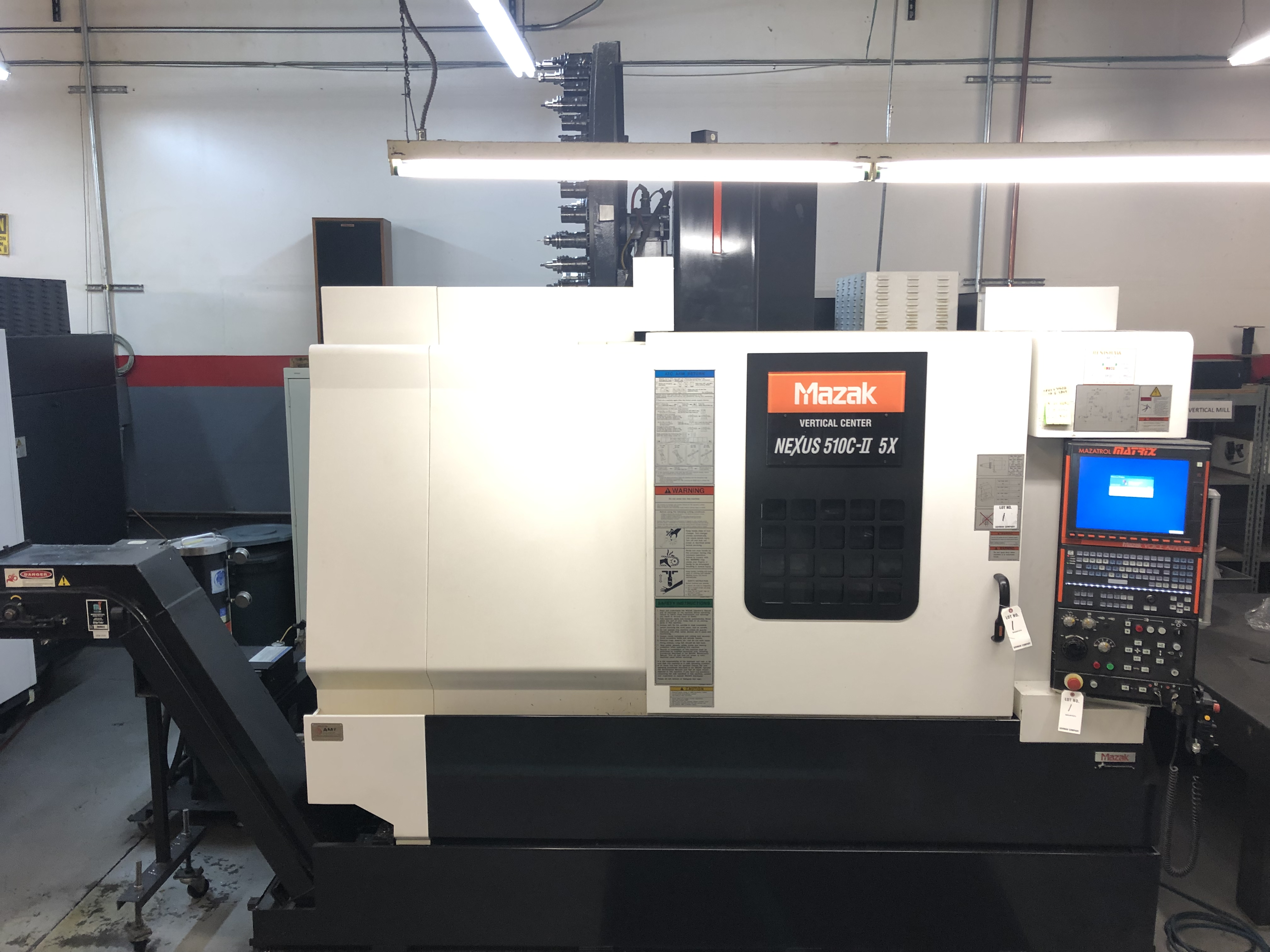 Lot 1 - 2011 Mazak VCN 510C-II 5X Vertical Machining Center- 25 HP Spindle Motor, 12,000 RPM Spindle