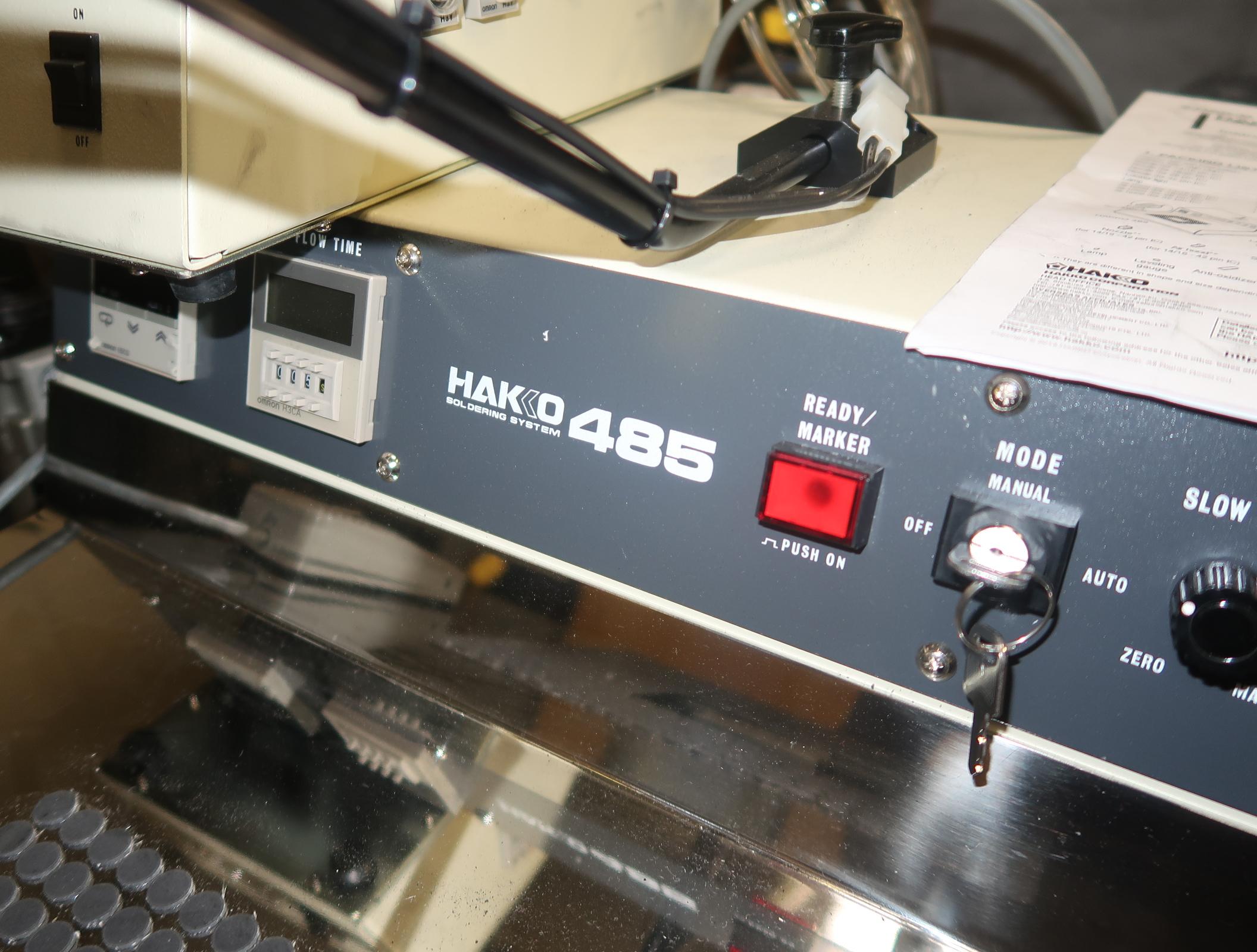 Lot 16 - HAKKO 485 SOLD MACHINE, MDL. 485-V12 SN. 01485019000002