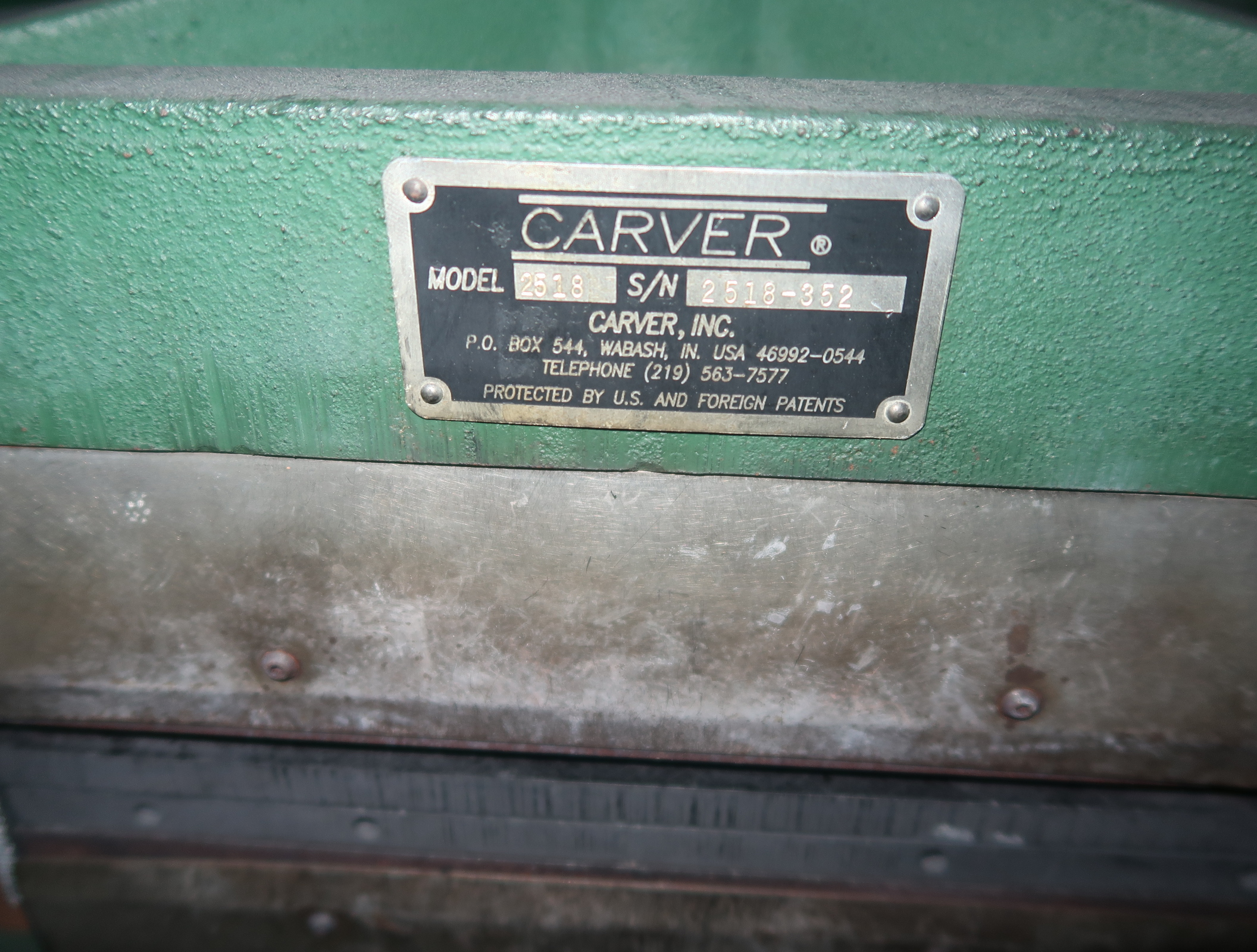 "Lot 25 - CARVER 12"" X 12"" MANUAL HYDRAULIC LAMINATION PRESS 230V, 1PH"