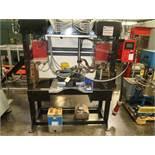 CUSTOM BUILT BUS BAR DUAL WELD WELDER, JANDA CONTROL, 480V 1PH, 100AMPS W/SPARE TRANSFORMER