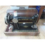 Lot 652 - Wooden Singer sewing machine
