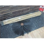 Lot 57 - Chimney sweep and rods