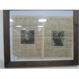 Lot 54 - Framed Titanic news print