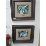 Lot 59 - Imma Nicalau pair of oils park scenes