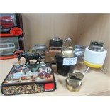 Lot 34 - Various table lighters Sputnik, Chrome Swan, pewter donkey etc.