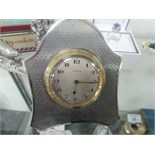 Lot 24 - Silver 8 day clock