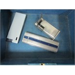 Lot 30 - 2 vintage maruman lighters silver plated + one other