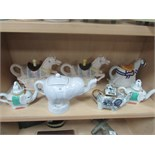 Lot 46 - 7 elephant themed tea pots