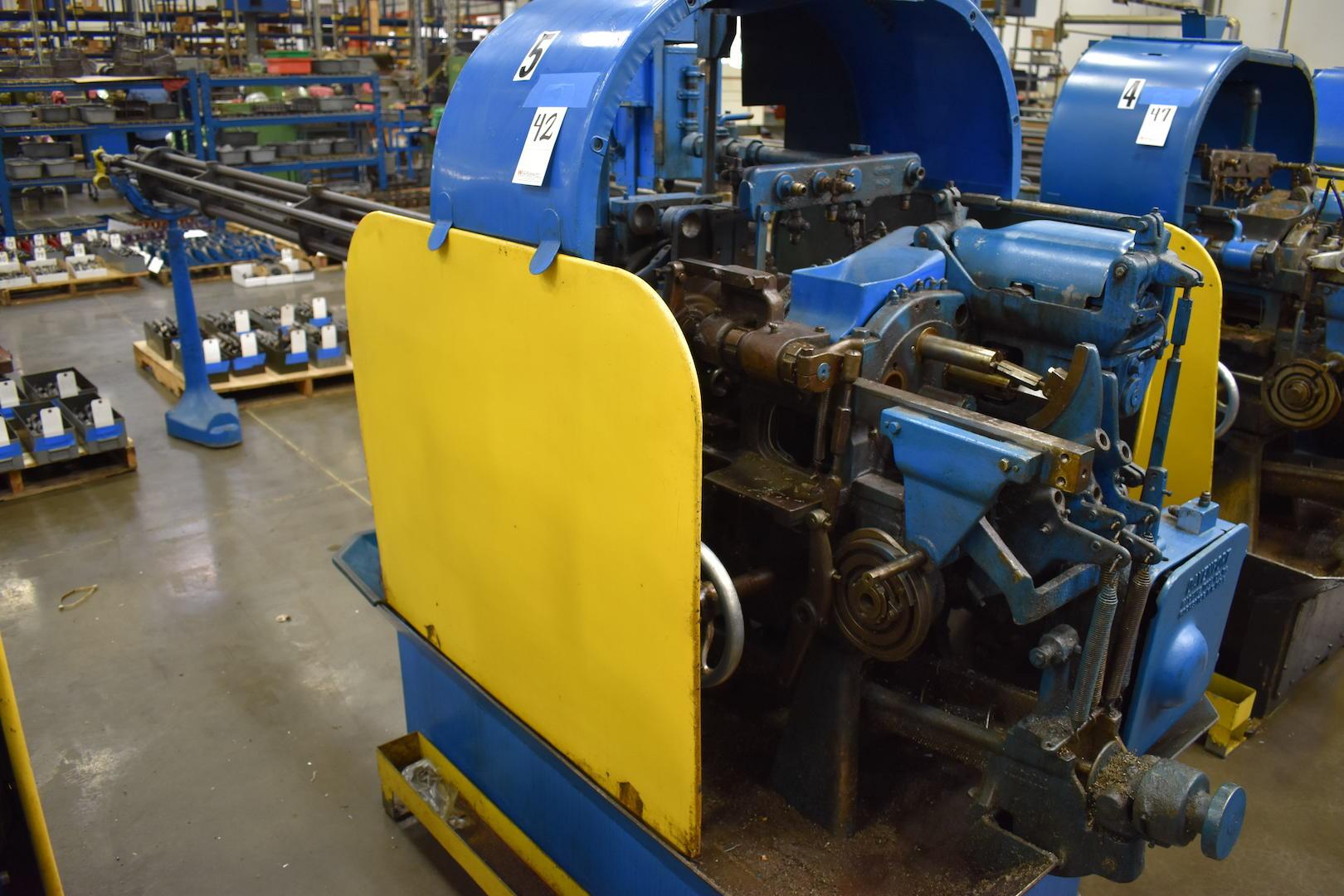 Lot 42 - DAVENPORT MODEL B OVERSIZE 5-SPINDLE AUTOMATIC SCREW MACHINE