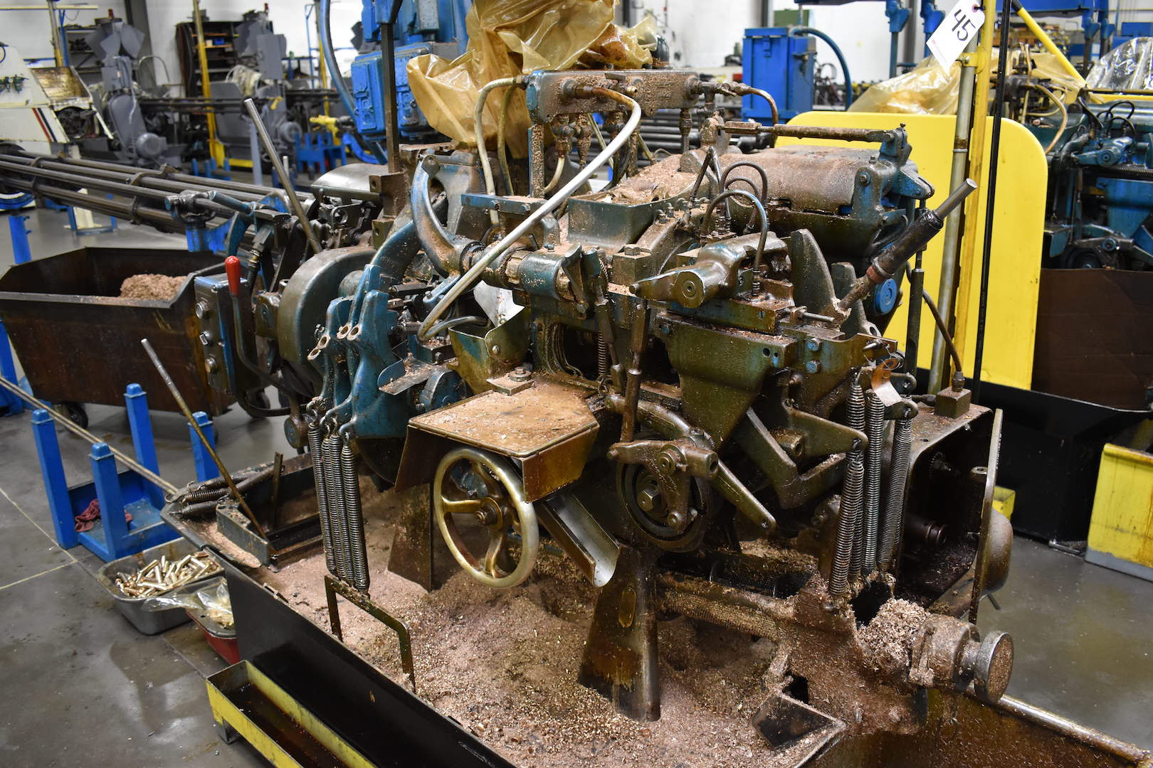 Lot 45 - DAVENPORT MODEL B OVERSIZE 5-SPINDLE AUTOMATIC SCREW MACHINE