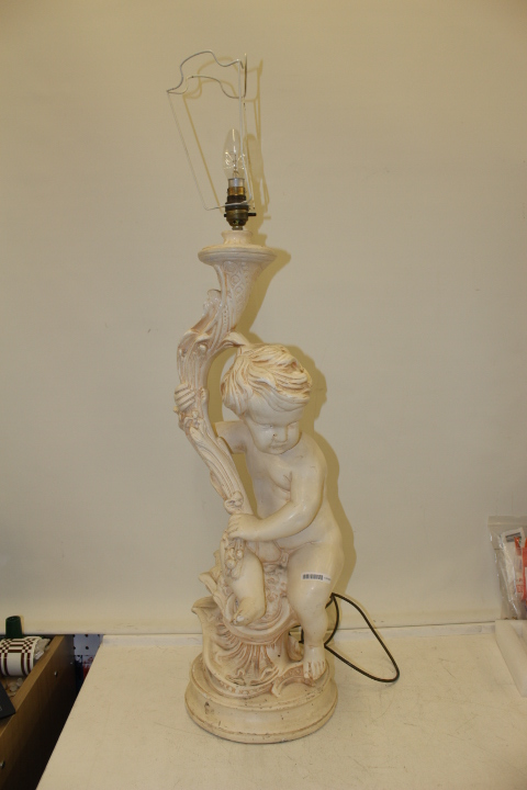 Cherub Table Lamp Approx 36 Inches Tall