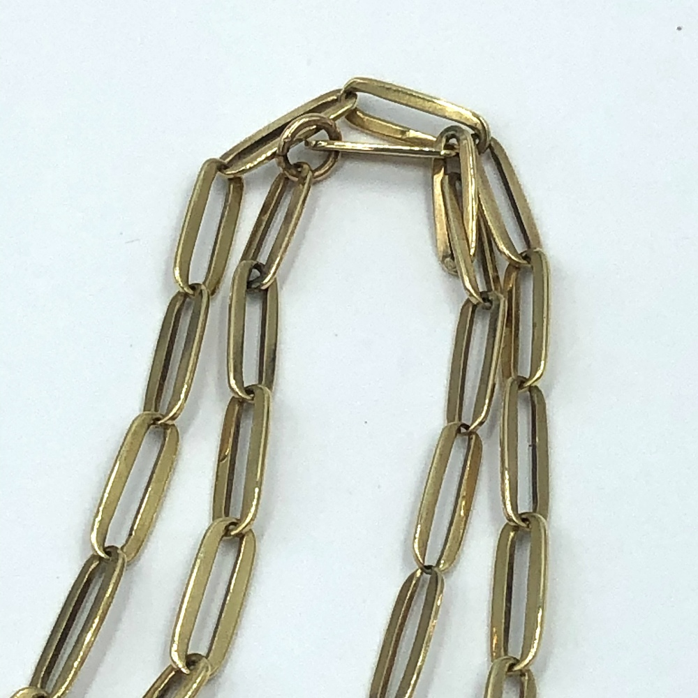 Lot 49 - 9ct Gold fancy link necklace 7g