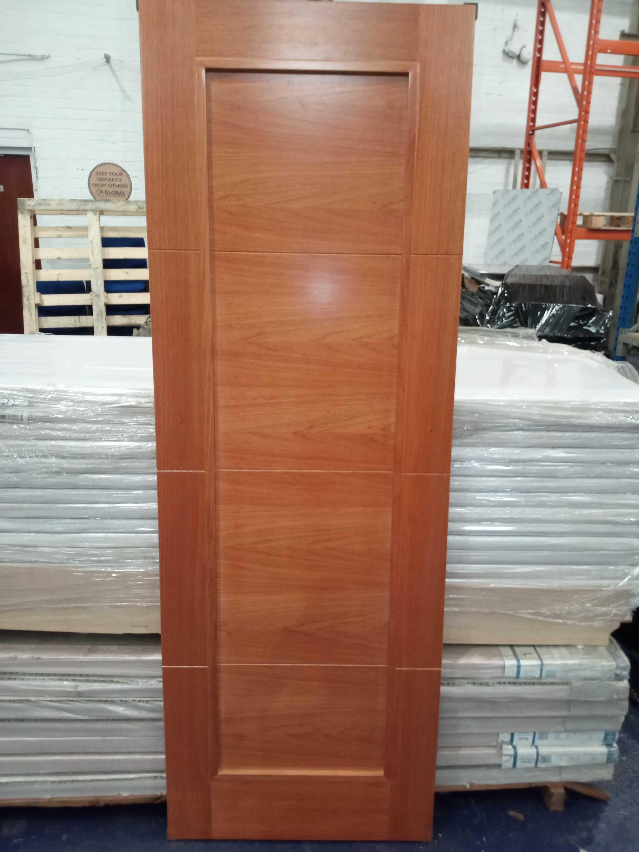 Rrp £2800 Brand New 4 Panel Solid Cherry Hardwood Doors