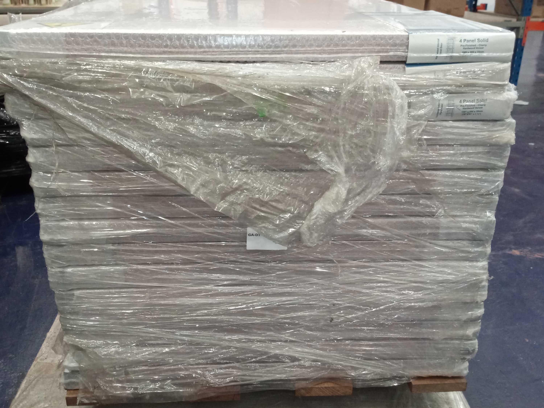 Rrp £2800 Brand New 4 Panel Solid Cherry Hardwood Doors - Image 3 of 4