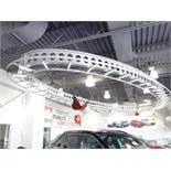 Fixture néon ovale au plafond