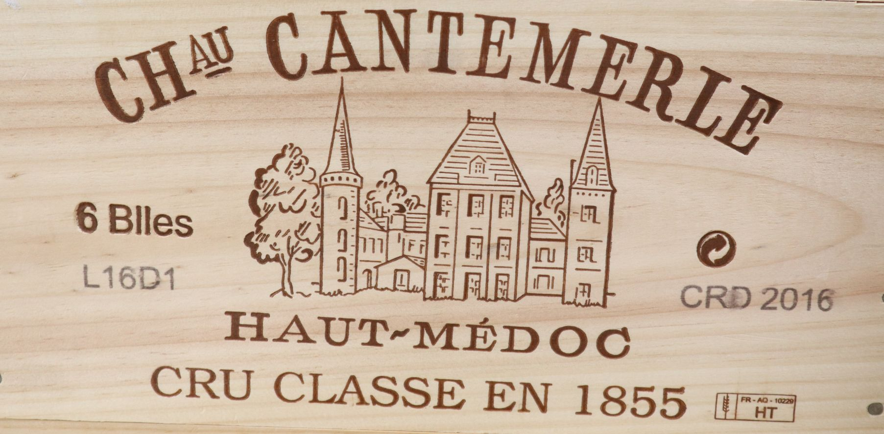 Lot 1033 - A case of six Chateau Cantemerle Haut Medoc wine, 2016