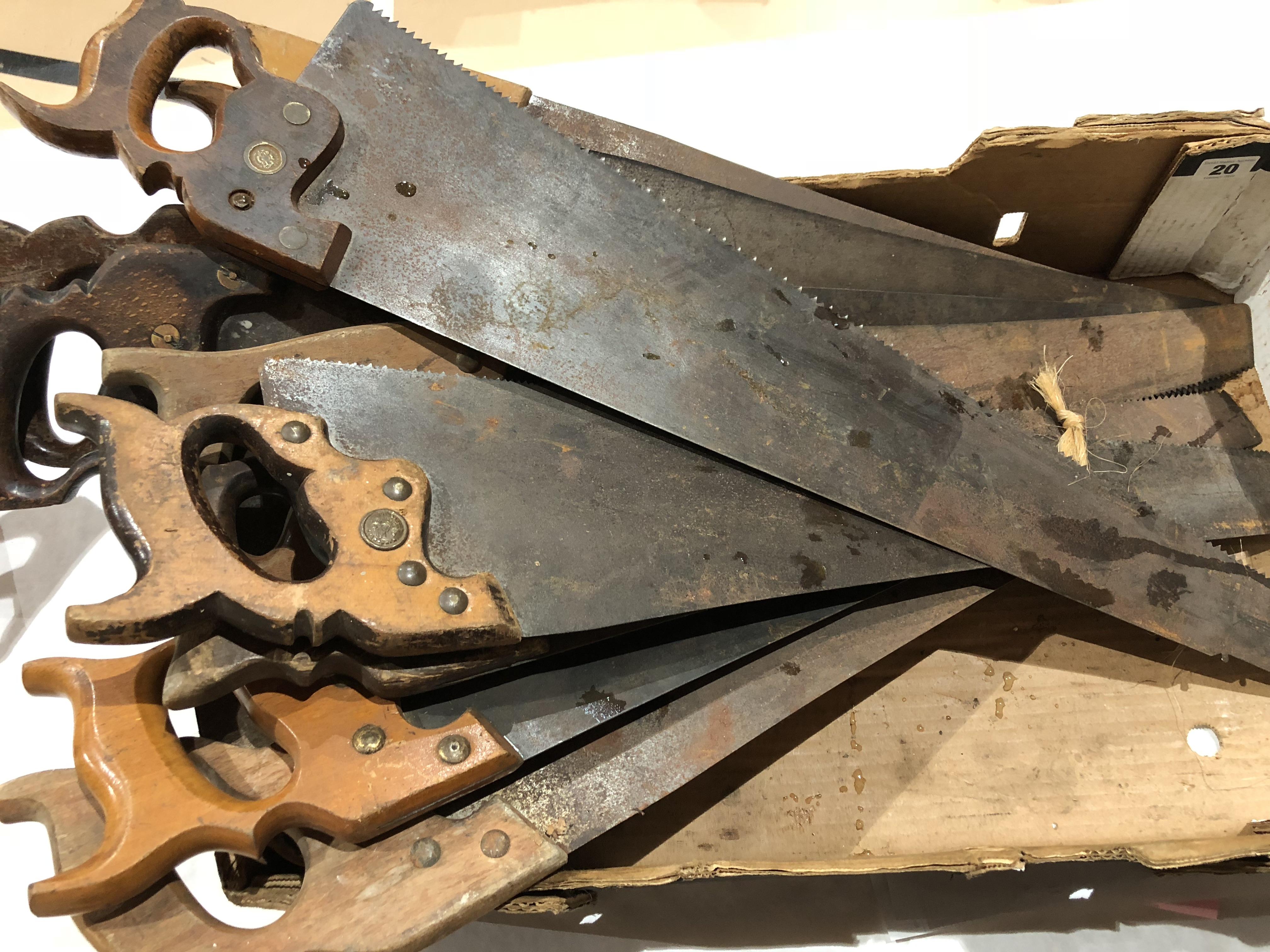 Lot 20 - Ten hand saws G
