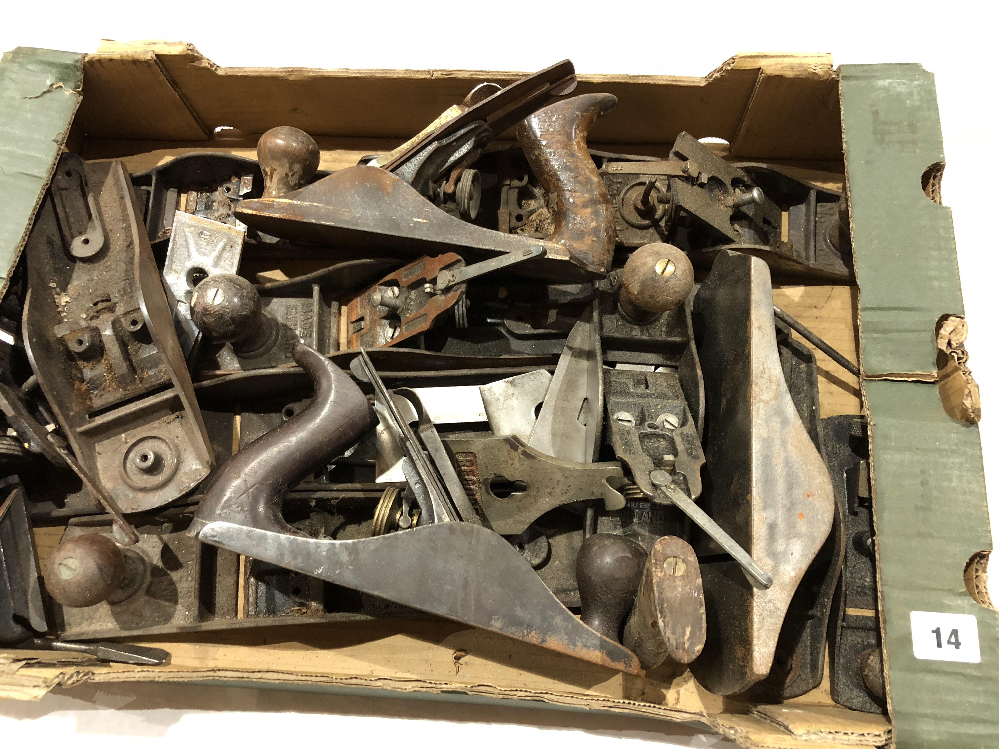 Lot 14 - Metal plane parts for spares or repairs P