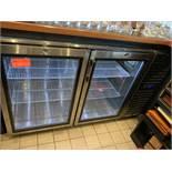 Krowne Undercounter back bar refrigerator; M: BS60R-KNS-RR, SN: 0014348, made 10/20/2015