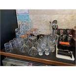 Lot of Barware & Glasses