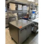 "True Worktop refrigerator with 2 lower doors & 2 shelf over shelf; M: TUC-36, SN"" 8710951"