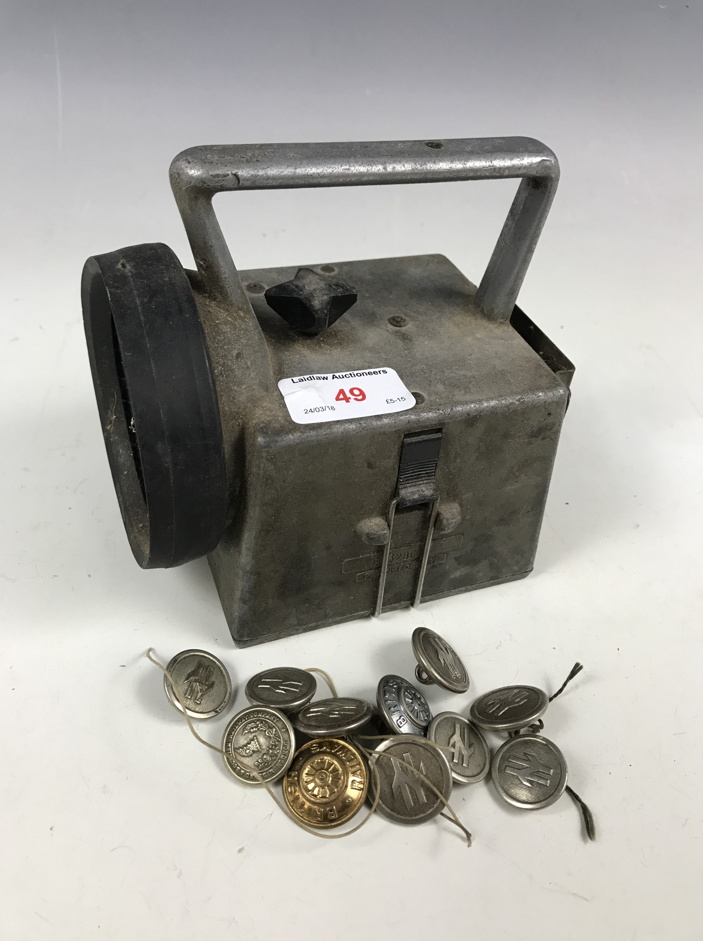 Lot 49 - A British Rail lamp and buttons