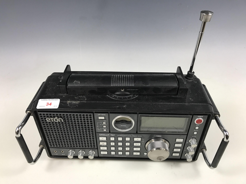 Lot 34 - An Eton Satellite 750 AM/FM shortwave, airwave band radio with SSB
