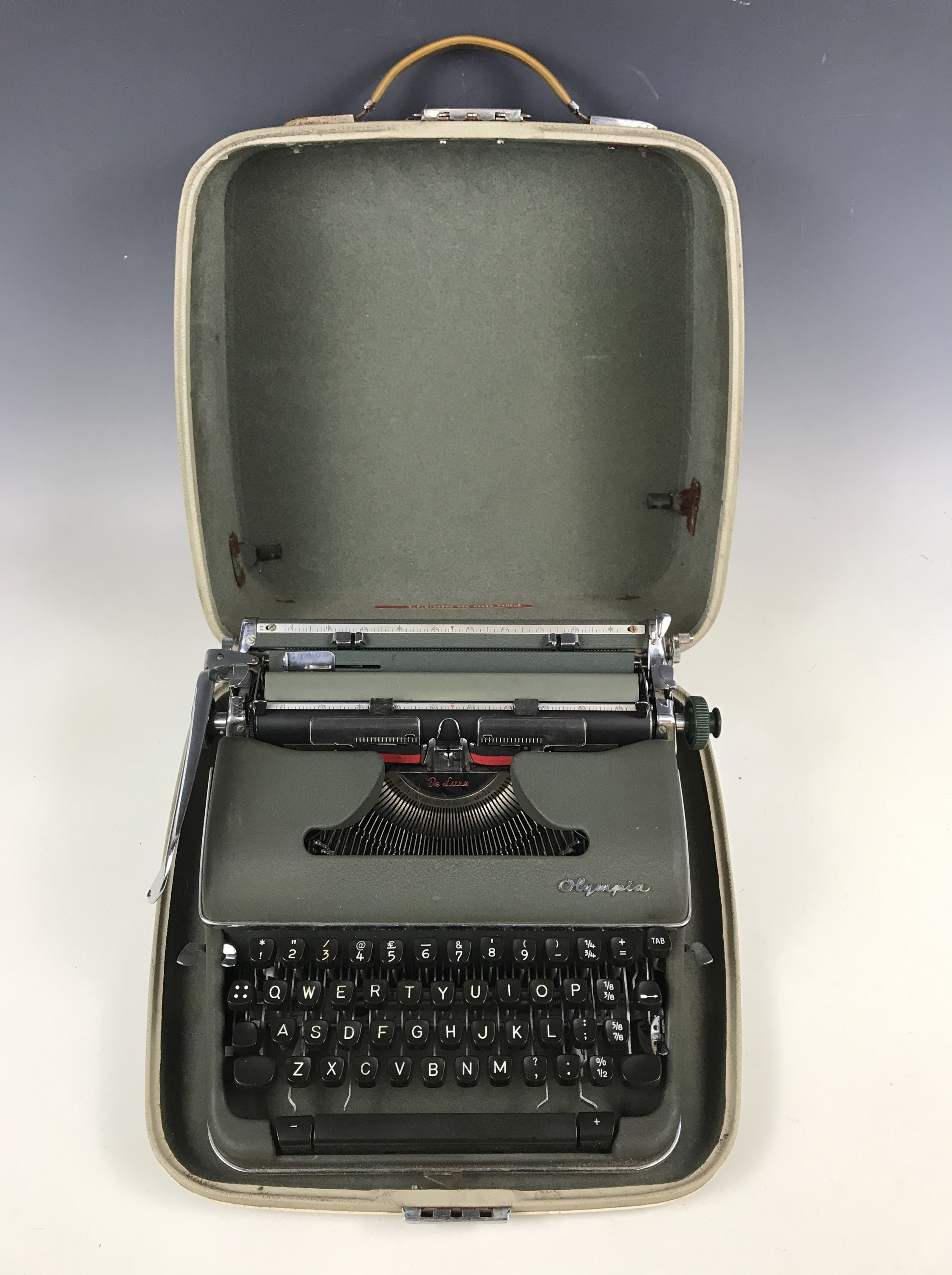 Lot 37 - An Olympia Deluxe typewriter