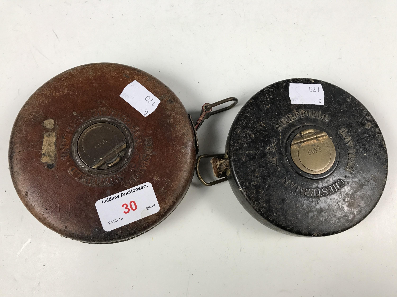 Lot 30 - Two vintage Chesterholm tape measures